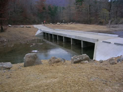 Little Missouri River replacement bridge for passage.