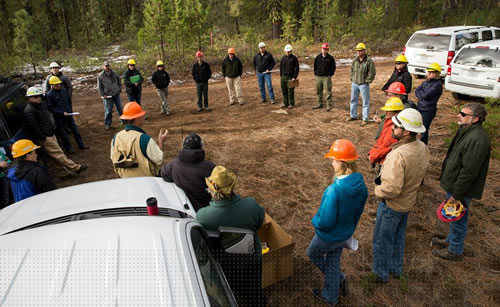 Field review of the Deschutes Collaborative Forest, Oregon.