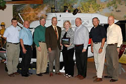 U.S. Forest Service and National Wild Turkey Federation members pictured with the Partner Champion Award.