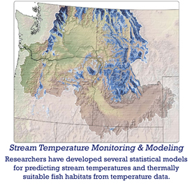 stream temperature monitoring and modeling - researchers have developed several statistical models for predicting stream temperatures and thermally suitable fish habitats from temperature data