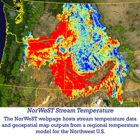 NorWeST stream temperature - the NorWeST webpage hosts stream temperature data and geospatial map outputs from a regional temperature model for the northwest US