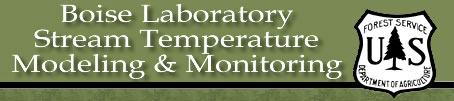 USFS RMRS Boise Lab Stream Temperature Modeling and Monitoring