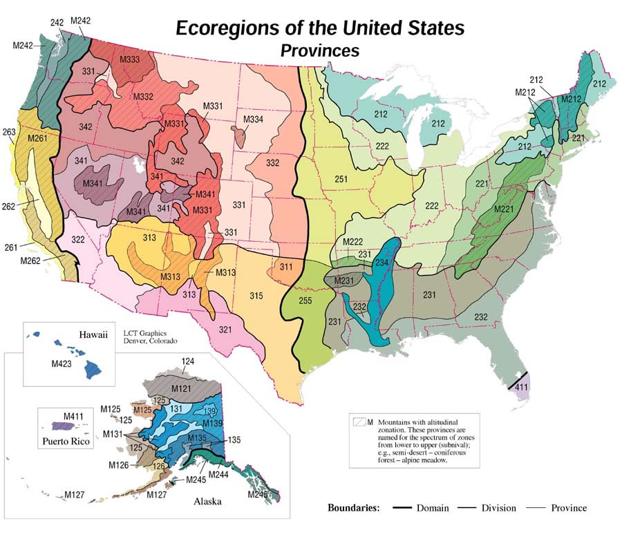 Ecoregions of the United States - Ecoregions - RMRS - US Forest Service