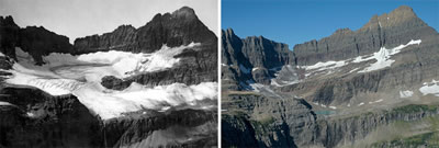 Shepard Glacier, MT, 1913 and 2005