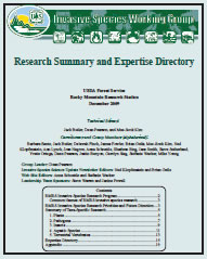 Cover for Research Summary & Expertise Directory