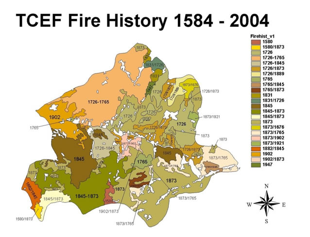 map of fire history