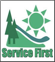 Graphic: Service First logo.