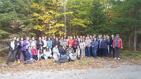Participants of the Maple Nation climate summit posing for a photo