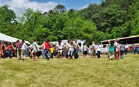 A Friendship Dance heralds the Forest Service-assisted return of a traditional area to Eastern Band of Cherokee Indians.