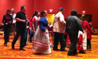 Mariel Murray (left) in a tribal dance at To Bridge A Gap 2013.