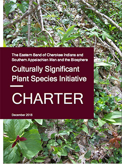 Culturally Significant Plant Species Initiative charter cover.