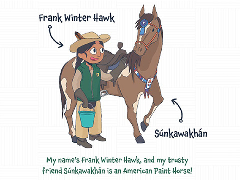 Frank Winter Hawk and Súnkawakhán.