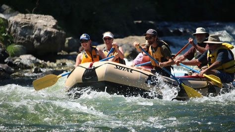 Rafting on the Klamath River.