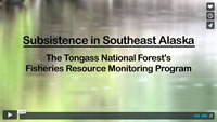 Opening title of the Subsistence in Southeast Alaska video.