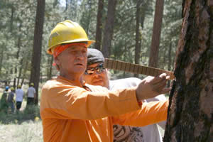 Klamath tribal members Paul Jackson and Richard Harrington participate in the Forestry and Wildland Fire Small Business Training