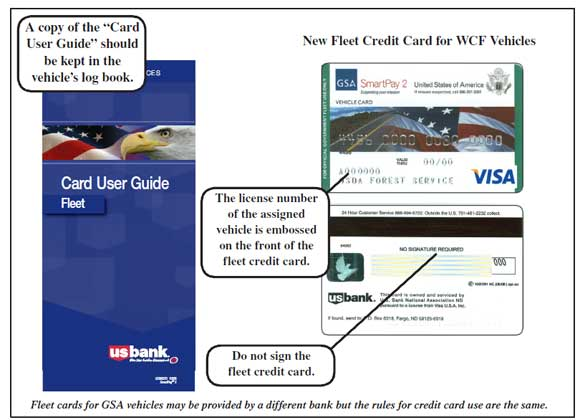 image of fleet credit card and the card user guide to be kept in - Fleet Card Service