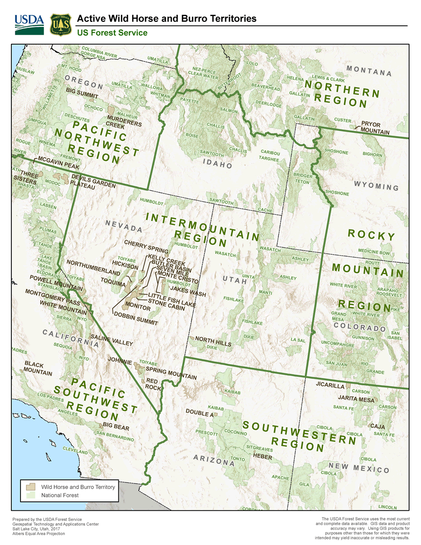 Wild Horse and Burro Territories