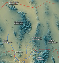 Peloncillo Mountains map.