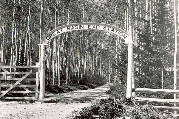 Great Basin Experiment Station entrance sign.