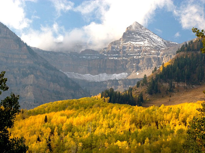 Mount Timpanogos, Uinta National Forest. Photo by Robert Shorn.