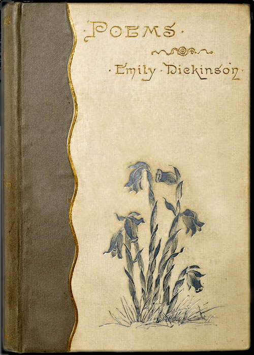 Book cover: Poems, Emily Dickinson.