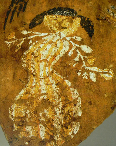 Plant deity from a wall painting in Northern Arizona.