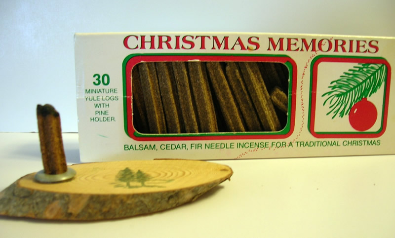 Box of Christmas Memories incense and holder.