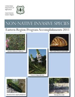 Non-Native Invasive Species: Eastern Region Program Accomplishments 2011 cover page.