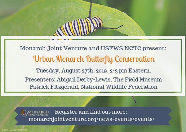 Urban Monarch Butterfly Conservation graphic.