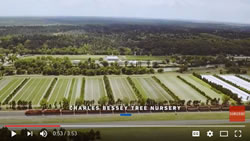 Aerial view of Charles Bessey Tree Nursery, a clip from the video