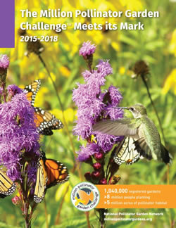 The Million Pollinator Garden Challenge Meets Its Mark report cover.