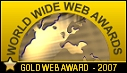 World Wide Web Awards Gold Award logo