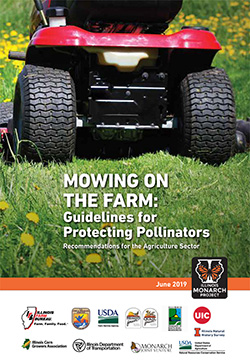 Mowing on the Farm: Guidelines for Protecting Pollinators cover.