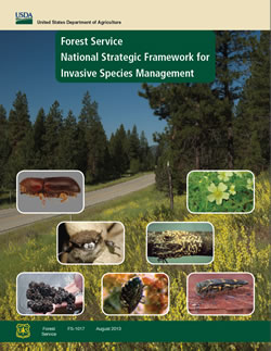 Cover of the Forest Service National Strategic Framework for Invasive Species Management