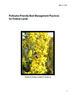 Pollinator-Friendly Best Management Practices For Federal Lands cover.