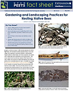 Gardening and Landscaping Practices for Nesting Native Bees cover.
