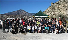Volunteers posing for a group shot, who planted Joshua tree seeds.