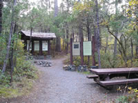 Limpy Creek Trailhead and Kiosk.