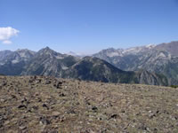 Looking south to the Wallowa Mountains from the summit of Mt. Howard.