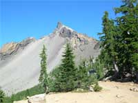 View of Mt. Thielsen from the Pacific Crest Trail.