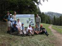 Forest Service personnel and Washington Native Plant Society members who cooperated on the Tiffany Botanical Area sign.