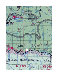Kings River Trail location map.