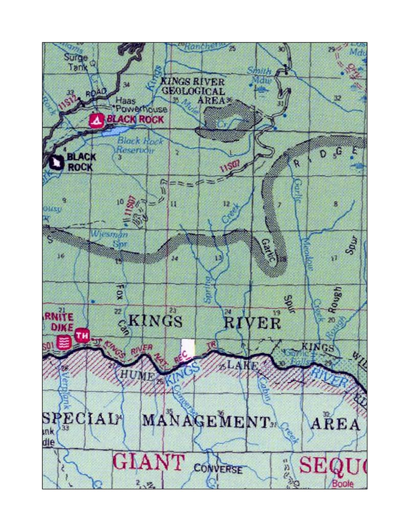 kings river trail location map
