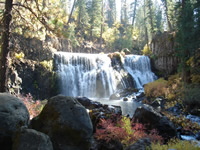 Middle Falls of the McCloud River.