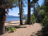 Tallac Historic Site Trail near Kiva Beach.