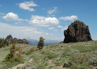 One of the many spectacular views available along the Thunder Mountain trail.