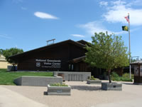 Front entrance of the National Grassland Visitor Center.