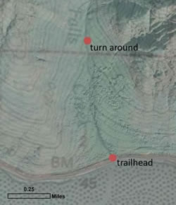 Map of the Falls Creek area.