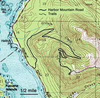 Map of Harbor Mountain Area.