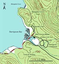 Map of Starrigavan Recreation Area.